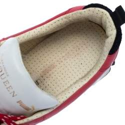 Alexander McQueen For Puma Red Leather Low Top Sneakers Size 44