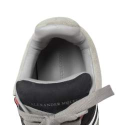 Alexander Mcqueen Multi Color Leather, Suede And Mesh Exaggerated Sole Leather Sneakers Size 40