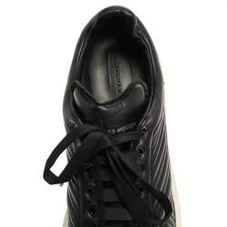 Alexander McQueen Black Quilted Leather Low Top Sneakers Size 45