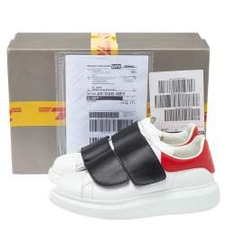 Alexander McQueen Multicolor Leather Oversized Velcro Strap Sneakers Size 40.5