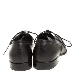 Alexander McQueen Black Leather Lace Derby Size 40
