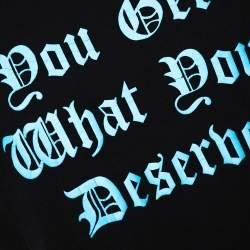 Amiri Black & Blue Deserve Print Cotton Crew Neck T-Shirt M