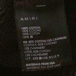 Amiri Black & Yellow Bones Print Cotton Pullover Hoodie M