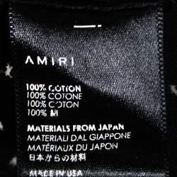 Amiri Black Distressed Cotton Crew Neck T Shirt M