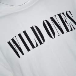 Amiri Cream Cotton Wild Ones Print Round Neck T-Shirt M