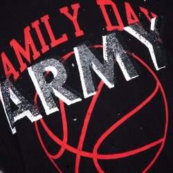 Amiri Black Cotton Vintage Army Print Round Neck T Shirt M