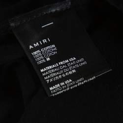 Amiri Black Cotton Quote Print Crew Neck T-Shirt XS