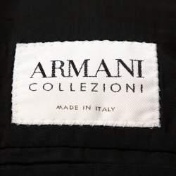 Armani Collezioni Black Wool Tailored Suit L