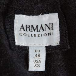 Armani Collezioni Black Wool Turtleneck Sweater XS