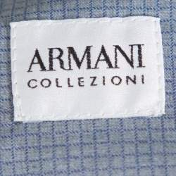 Armani Collezioni Navy Blue Wool Contrast Waistband Trim Tailored Trousers 4XL