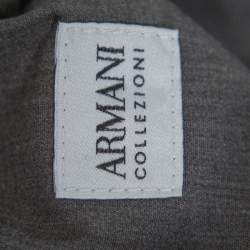 Armani Collezioni Grey Denim Low Rise Tight Leg Regular Fit Jeans M