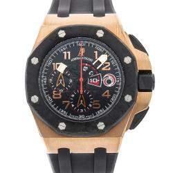 Audemars Piguet Black 18k Rose Gold And Carbon Royal Oak Offshore Team Alinghi Limited Edition 26062OR.OO.A002CA.01 Men's Wristwatch 44 MM
