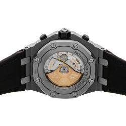 Audemars Piguet Black Stainless Steel Royal Oak Offshore Chronograph 26470ST.OO.A099CR.01 Men's Wristwatch 42 MM