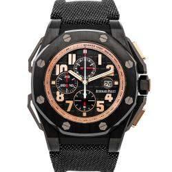 Audemars Piguet Black Ceramic Royal Oak Offshore Arnold Schwarzenegger The Legacy Chronograph 26378IO.OO.A001KE.01 Men's Wristwatch 48 MM