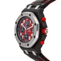 Audemars Piguet Red Forged Carbon And Stainless Steel Royal Oak Offshore Chronograph Singapore Grand Prix 26190OS.OO.D003CU.01 Men's Wristwatch 42 MM