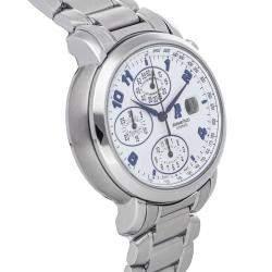 Audemars Piguet Silver Stainless Steel Millenary Chronograph 25897ST.OO.1136ST.01 Men's Wristwatch 41 x 37 MM