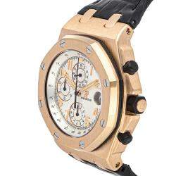 Audemars Piguet Silver 18K Rose Gold Royal Oak Offshore Chronograph Pride Of Russion Limited Edition 26061OR.OO.D002CR.01 Men's Wristwatch 44 MM