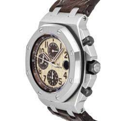 Audemars Piguet Brown Stainless Steel Royal Oak Offshore Chronograph 26470ST.OO.A801CR.01 Men's Wristwatch 42 MM