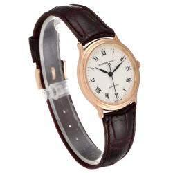Audemars Piguet Silver 18K Rose Gold Classic Automatic 14406BA Men's Wristwatch 33 MM