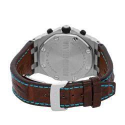 Audemars Piguet Silver Stainless Steel Royal Oak Offshore Montauk Highway Limited Edition 26187ST.OO.D801CR.01 Men's Wristwatch 44 MM