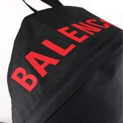 Balenciaga Black/Red Nylon Wheel Backpack
