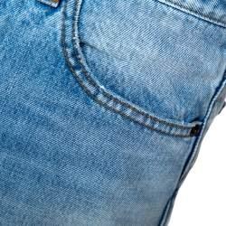 Balenciaga Blue Raw Edge Denim Shorts M