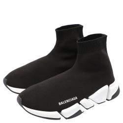 Balenciaga Speed 2.0 Black/White Trainers Size EU 42