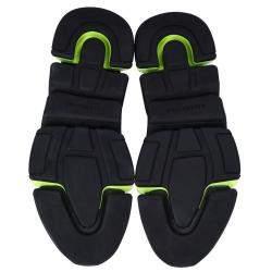 Balenciaga Black/Green Knit Speed Sneakers Size EU 42