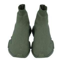 Balenciaga Green Knit Speed.2 Sneakers Size EU 43