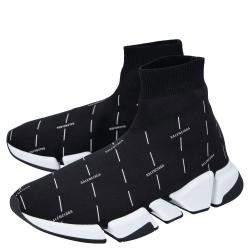 Balenciaga Black Speed 2.0 logo-print Sneakers Size EU 41