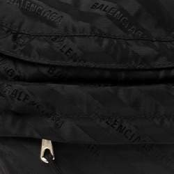 Balenciaga Black Nylon Logo Belt Bag