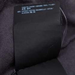 تي شيرت بالنسياغا سبيد هانترز قطن مطبوع رصاصي بنمط مغسول مقاس كبير - لارج