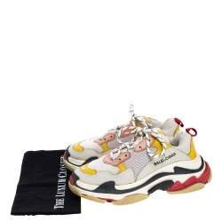 Balenciaga Multicolor Leather and Mesh Triple S Platform Sneakers Size 40