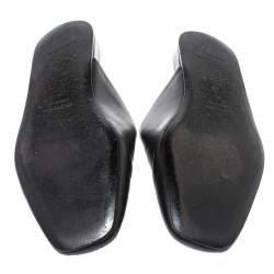Balenciaga Black Leather Cosy BB Slippers Size 41