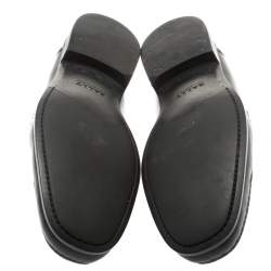 Bally Black Leather Suver Loafers Size 43