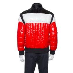 Balmain Tricolor Quilted Puffer Jacket XXL