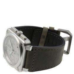 Bell & Ross Gray Stainless Steel Horolum Chronograph Limited BR03-94-GR-ST Men's Wristwatch 42 MM