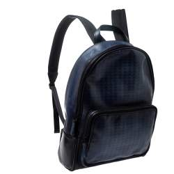 Berluti Blue/Black Ombre Printed Leather Backpack