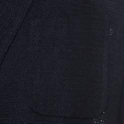 Berluti Navy Crochet Knit Wool Blend Blazer XL