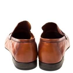 Berluti Brown Leather Lorenzo Loafers Size 42