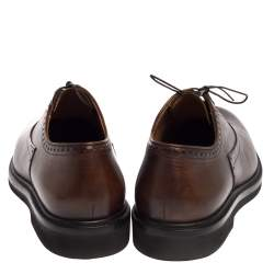 Berluti Brown Leather Lace Up Oxfords Size 42