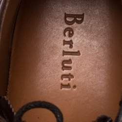 Berluti Brown Leather Lace Up Desert Boots Size 42