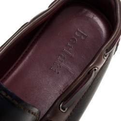 Berluti Black Leather Tassel Slip On Loafers Size 41.5