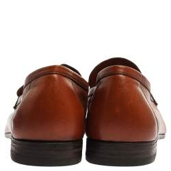 Berluti Brown Leather Lorenzo Loafers Size 42.5