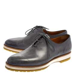 Berluti Grey Leather Lace Up Oxfords Size 41