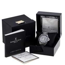 Bernhard H. Mayer Black Stainless Steel Nauticus Austro Limited Edition Men's Wristwatch 45 mm