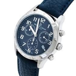 Bernard H. Mayer Blue Stainless Steel Iris Chronograph Men's Wristwatch 38 mm
