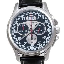 Bernhard H. Mayer Black Stainless Steel Chrono Compressor Limitted Edition 3410/9999 Men's Wristwatch 40 mm