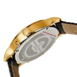 Bernhard H. Mayer Black Gold PVD Stainless Steel Pioneer Men's Wristwatch 42 mm