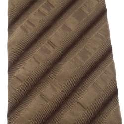 Boss by Hugo Boss Gold Monochrome Diagonal Striped Silk Tie